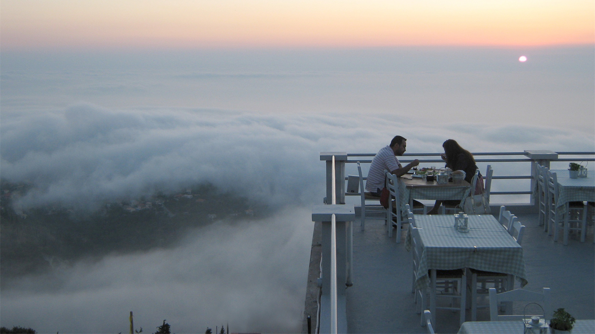 above the clouds…